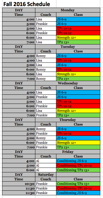 garwood-schedule