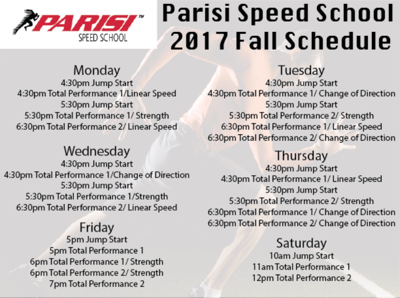 parisi-2016-fall-schedule