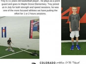 Congratulation for Trey Fry for being selected as Athlete Of The Month