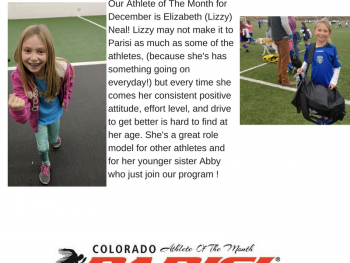 November Athlete Of The Month – Elizabeth Neal