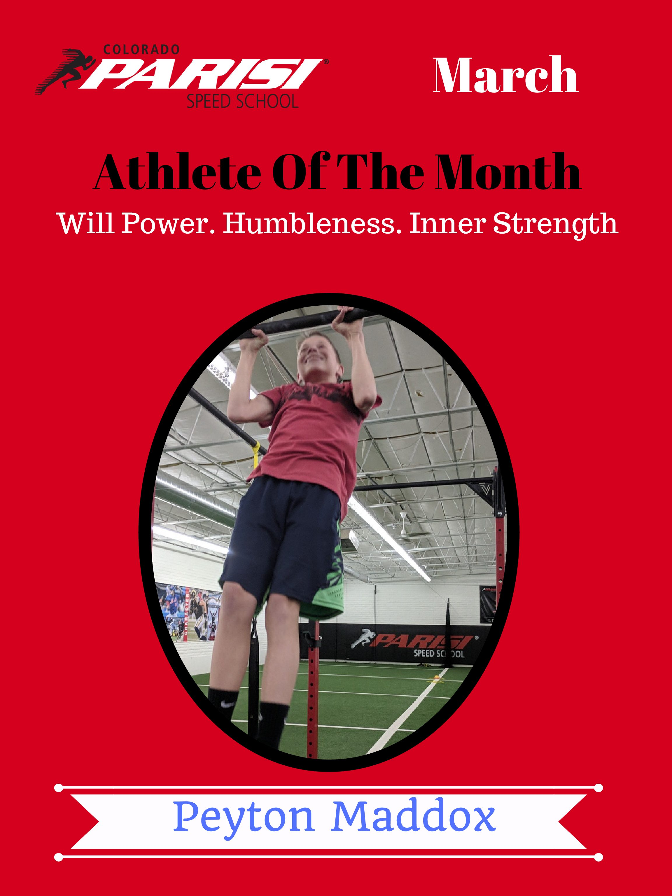 March Athlete Of The Month