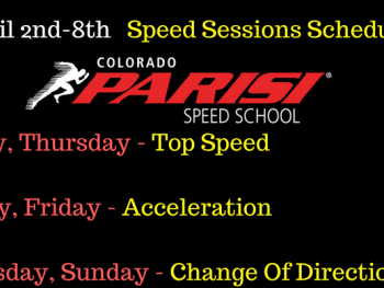 April 30th Speed Schedule
