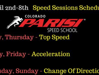 April 2nd Week Schedule