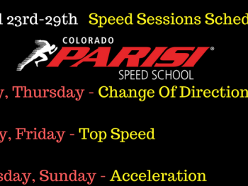 April 23rd Speed Session Schedule