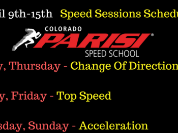 April 9th Speed Sessions Schedule