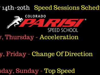 Speed Sessions Week of May 14th