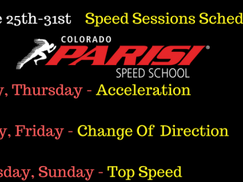 June 25th week speed schedule