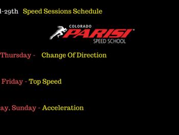 July 23rd Speed Schedule