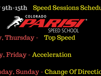 Speed Sessions Schedule July 9th week