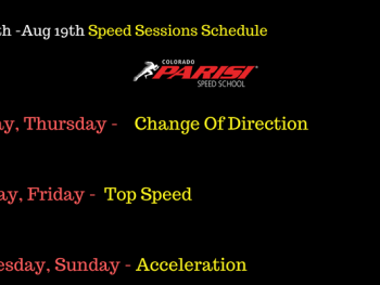 August 13th Speed Schedule