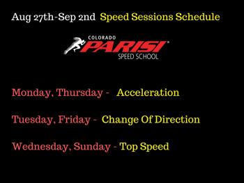 Aug 27th speed schedule