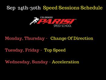 Sep 24th Speed Schedule