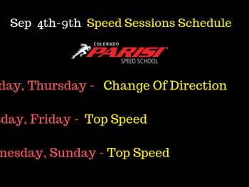 Speed Sessions Schedule – Sep 4th week