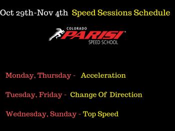 Oct 29th Speed Schedule