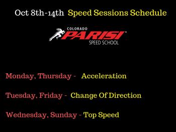 Oct 8th Speed Schedule