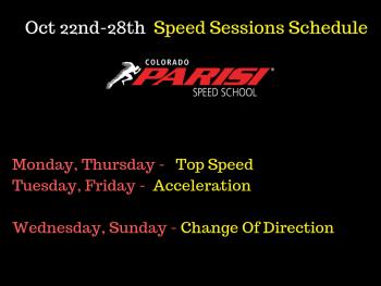 Weekly Speed Schedule