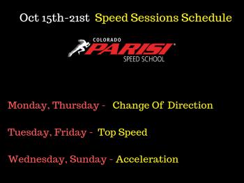 Oct 15th Speed Schedule