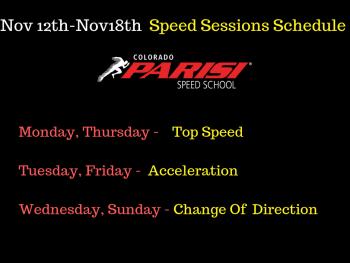 Nov 12th Speed Schedule